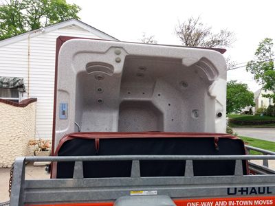 Hot tub & spa moving & removal